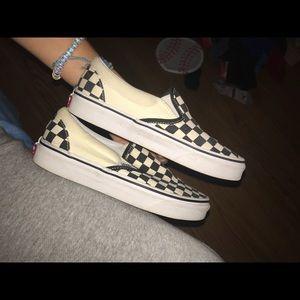 Vans Shoes - New slip on Checker vans